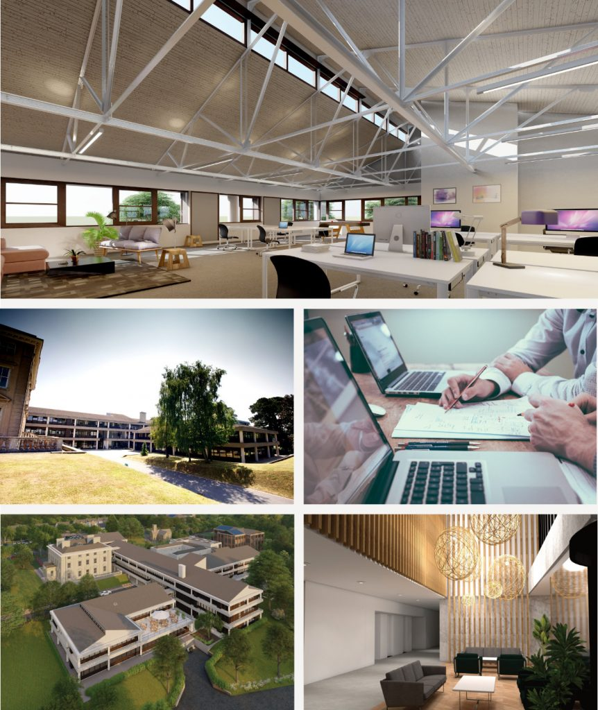 Reflecting the managed offices available at Winslade Park Exeter, specifically in Winslade House, a RIBA award winning office complex in stunning parkland